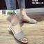 รองเท้าแตะสวมหน้าเพชร ST182-CRM [สีครีม] thumbnail 3
