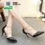 รองเท้าคัชชูรัดข้อหุ้มส้นเปิดข้าง ST8982-BLK [สีดำ] thumbnail 2