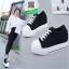 รองเท้าผ้าใบเสริมส้นสีดำ สไตล์เกาหลี (สีดำ ) thumbnail 1