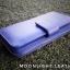 กระเป๋าสตางค์ผู้หญิง ใบยาวสวยงาม สีน้ำเงินสด หนังวัวแท้แสนนุ่ม ทนทาน โดนน้ำได้ ไม่ลอกร่อน พร้อมกล่องแบรนด์แท้ Moonlight thumbnail 3