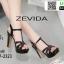 รองเท้าส้นแท่งรัดข้อเปิดส้น <SP>17-2323-BLK<SP>[สีดำ] thumbnail 1