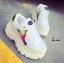 รองเท้าผ้าใบ PU Flashion-White 20182 [สีขาว] thumbnail 1
