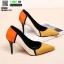 รองเท้าคัชชูส้นเข็ม ST8858-YEL [สีเหลือง] thumbnail 2