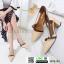 รองเท้าคัชชูงานหนังเนื้อนิ่มดีไซน์ทรงหัวแหลม B76-53-CREAM [สีครีม] thumbnail 4