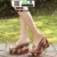 รองเท้าแบบสวมส้นเตารีด ST5117-GLD [สีGLD] thumbnail 2