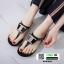 รองเท้าแตะส้นแบน jelly sandals TIT04-BLK [สีดำ] thumbnail 2