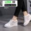 รองเท้าสวมส้นสูงหนัง pu AY077-WHI [สีขาว] thumbnail 5
