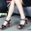 รองเท้าลำลองรัดส้น หนังนิ่ม ส้นไม้ 1630-BLK [สีดำ] thumbnail 4