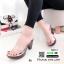 รองเท้าส้นสูงหน้าใส พื้นลายดอก 7801-7-ส้ม [สีส้ม] thumbnail 3