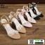 รองเท้าส้นแท่งหุ้มข้อเปิดส้น 1812-5-BLK [สีดำ] thumbnail 3