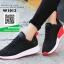 รองเท้าผ้าใบแฟชั่น W1012-BLK [สีดำ] thumbnail 4