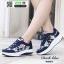 รองเท้าผ้าใบ แบบเสริมพื้นลายดอก W803-DBLU [สีน้ำเงินเข้ม] thumbnail 2