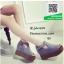 รองเท้าส้นเตารีดหุ้มส้นสีเทา เปิดหน้า (สีเทา ) thumbnail 1