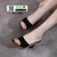 รองเท้าส้นสูงเปิดส้น 18-1391-BLACK [สีดำ] thumbnail 3