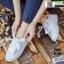 งานนำเข้า รองเท้าผ้าใบสไตล์เกาหลี ST888-WHI [สีขาว] thumbnail 1