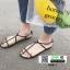 รองเท้าแตะผู้หญิงรัดส้น Celine sandals C55-1-BLK [สีดำ] thumbnail 3