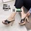 รองเท้าส้นสูงแบบสวม 3006-5-BLK [สีดำ]