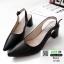 รองเท้าส้นสูง หน้าเรียว ทรงแมกซี่เก๋ 10168-ดำ [สีดำ] thumbnail 3