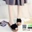 รองเท้าส้นเตารีด พื้นเสมอ G-1268-BLK [สีดำ] thumbnail 4