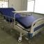 เตียงผู้ป่วย 2 ไกร์ มือหมุน แบบ ABS + เบาะที่นอน 4 ตอน + เสาน้ำเกลือ + ถาดวางอาหาร รหัส MEA03 thumbnail 2