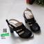 รองเท้าส้นสูงเปิดส้น 10164-ดำ [สีดำ] thumbnail 3