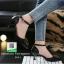 รองเท้าคัทชูส้นเข็มหัวแหลมสีขาว รัดข้อ (สีขาว ) thumbnail 3