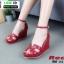 รองเท้าลำลองส้นเตารีด สไตล์แบรนด์ HERMES HW-22-RED [สีแดง] thumbnail 1