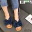 รองเท้าแตะผ้าซาติน แต่งโบว์ G-1409-BLU [สีน้ำเงิน] thumbnail 1
