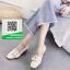 รองเท้าคัทชูผู้หญิงสีดำ ประดับเข็มขัดเกร๋ๆ (สีดำ ) thumbnail 3