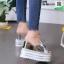 รองเท้าแบบสวมส้นเตารีด ST05-SIL [สีเงิน] thumbnail 4