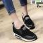 รองเท้าผ้าใบเสริมส้น งานนำเข้า100% ST3-BLK [สีดำ] thumbnail 1
