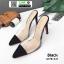 รองเท้าส้นสูงหัวแหลม สักหราด A178-A11-BLK [สีดำ] thumbnail 3