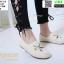 รองเท้าแบบสวม วัสดุผ้าด้านหน้า 345-213-CRM [สีครีม] thumbnail 2