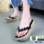 รองเท้าลำลองเตารีด เสริมส้น คีบ B22-190-BLK [สีดำ] thumbnail 1