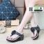 รองเท้าลำลองแบบคีบ LV(Luis Vuitton)Damier 8001-BLACK [สีดำ ] thumbnail 1