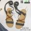 รองเท้าแตะสายคาดไขว้ หนังสักราจ G-1264-GRY [สีเทา] thumbnail 1