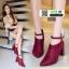 รองเท้าบูทหัวแหลม งานสวยปังมากค่ะ 0808-RED [สีแดง] thumbnail 1