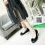 รองเท้าคัทชูเสริมส้นสีดำ พื้นบุนวมนุ่ม (สีดำ ) thumbnail 2