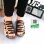 รองเท้าสไตล์เพือสุขภาพ คาดสีสลับ 5815-BROWN [สีน้ำตาล] thumbnail 2