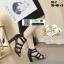 รองเท้าส้นสูงหุ้มส้นเปิดหน้า C3-2-BLK [สีดำ]