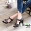 รองเท้าคัชชูหนังแกะ #ส้นสูงหนังแกะ แท้ 100% 8010-21-น้ำตาล [สีน้ำตาล ] thumbnail 2