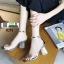 รองเท้าส้นสูงนำเข้า Crystal high-heeled shoes 0291-SILVER [สีเงิน] thumbnail 3