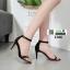 รองเท้าส้นสูง สไตล์เกาหลี ทรงเกร๋ 18-1366-BLACK [สีดำ] thumbnail 4