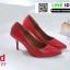 รองเท้าคัทชูหัวแหลม สีพาสเทล A678-77-RED [สีแดง] thumbnail 1