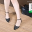 รองเท้าส้นเตี้ยสีดำ Ankle Strap Sandal (สีดำ ) thumbnail 4