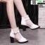 รองเท้าบูทหุ้มข้อเปิดหน้า งานนำเข้า100% ST618-WHI [สีขาว] thumbnail 3