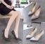 รองเท้าคัชชูส้นเข็ม ST338-WHI [สีขาว] thumbnail 4