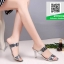 รองเท้าส้นเข็มเปิดส้นสีเงิน สไตล์แบรนด์ Patricia (สีเงิน ) thumbnail 1