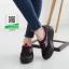 รองเท้าผ้าใบเสริมส้นสีดำ น้ำหนักเบา Supportเท้า (สีดำ ) thumbnail 3