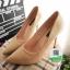 รองเท้าคัชชูส้นสูง หัวแหลม XG11-147-CREAM [สีครีม] thumbnail 1